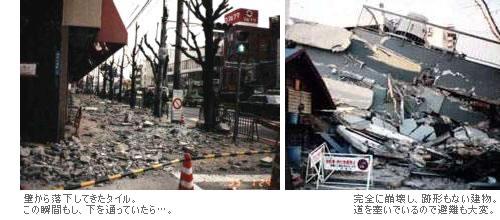 大震災での建物の崩壊